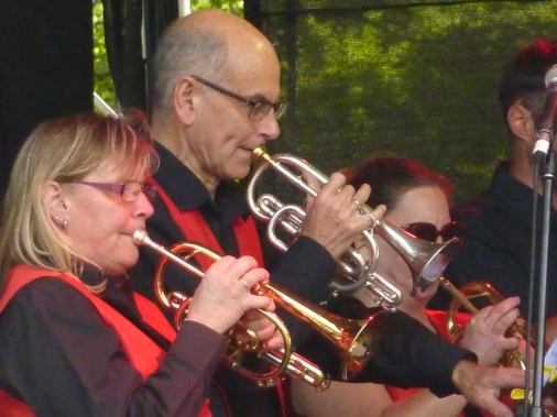 Back row cornets at Elderflower Fields, 26 May 2019