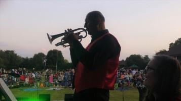 UCB's principal cornet, Neal Bland, Picnic Prom, 13 July 2019. Photo: UCB