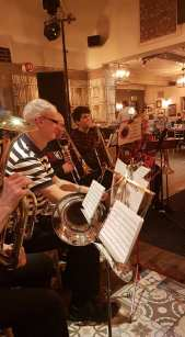 Uckfield Concert Brass at The Highlands, Uckfield, 15 December 2019.